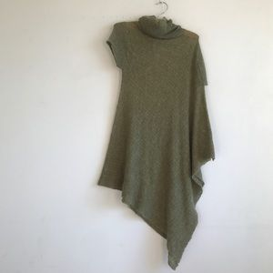 SHAE ANTHROPOLOGiE green wool knot sweater tunic